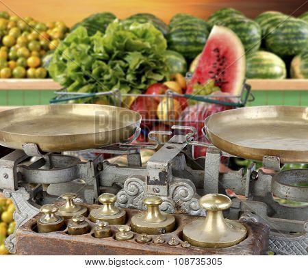 fruit market vegetables balance