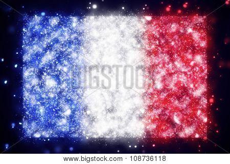 illustration of flag of France