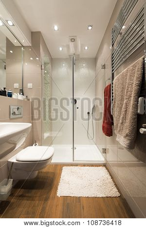 Modern Shiny Bathroom Interior