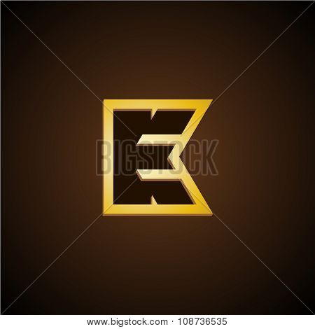 E And K Letters Monogram