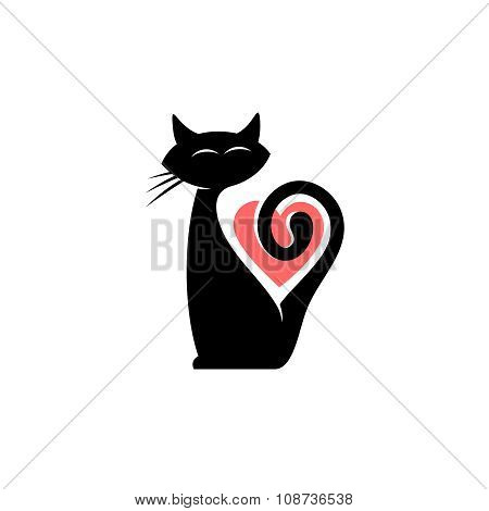 Elegant Cat Logo