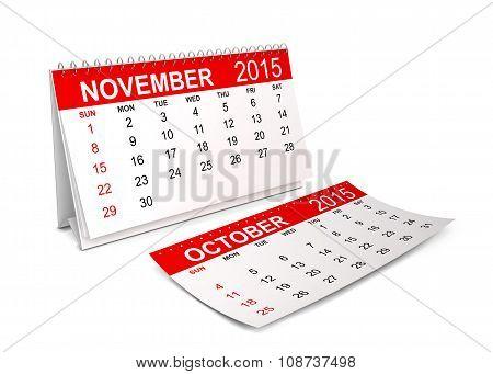 2015 Calendar. November