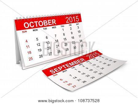 2015 Calendar. October