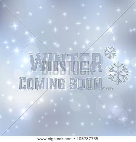 Winter coming soon.