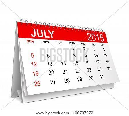 2015 Calendar. July