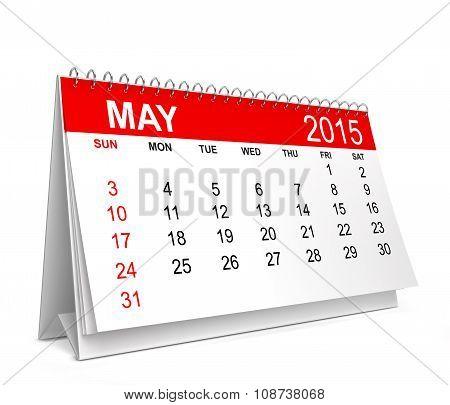 2015 Calendar. May