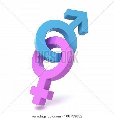 Male And Female Symbols Crossed