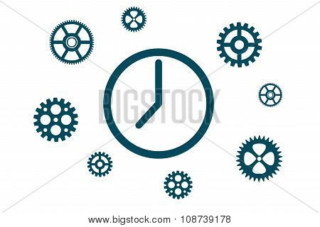 The mechanism of hours with gears