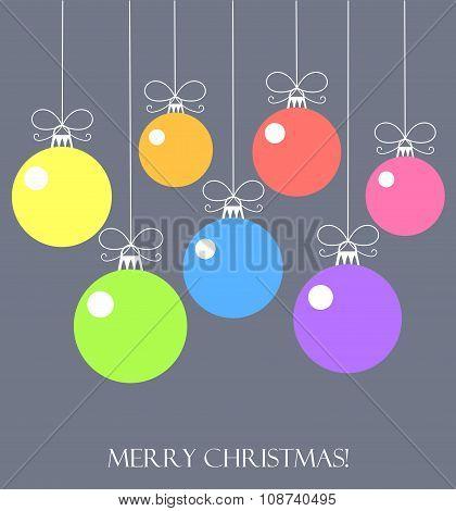 Christmas Balls Vector Card