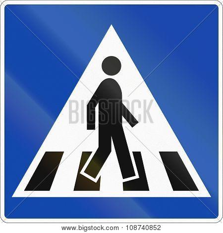 Norwegian Regulatory Road Sign -