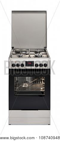 Modern stove isolated on white background with clipping path.