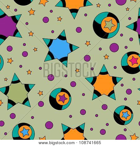 Colorful Seamless Tiling Star Texture
