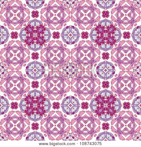 Background vintage tile. Seamless pattern. Abstract wallpaper. Texture vector. Fabric illustration