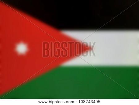Blurred background of the Jordan Flag - Jordanian
