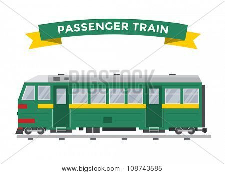 Passenger train vector collection. Trains vector illustration on white background. Passenger train railway silhouette. Passenger, metro, subway trains vector railway. Travel passenger train