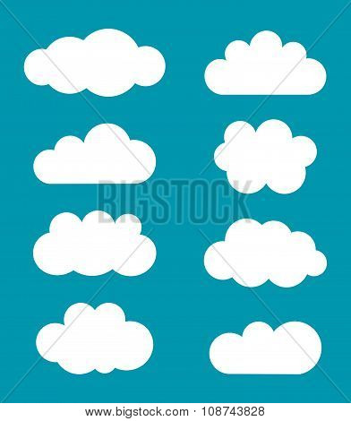Clouds Shapes Vector