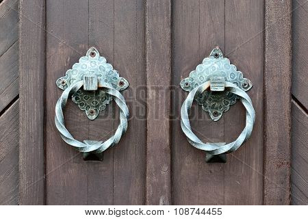 Ancient Door With A Door Knocker