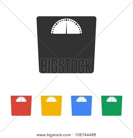 Weighting Icon. Flat Design Style.