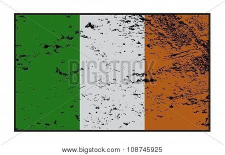 Ireland Flag Grunged