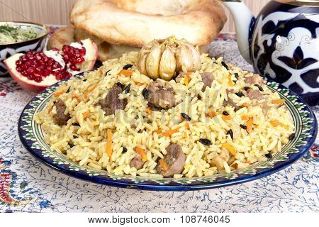 Pilaf - Eastern Food - Rice, Oil, Meat And Spices