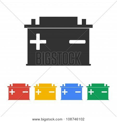 Car Battery Vector Icon