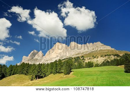 pasture in the dolomites