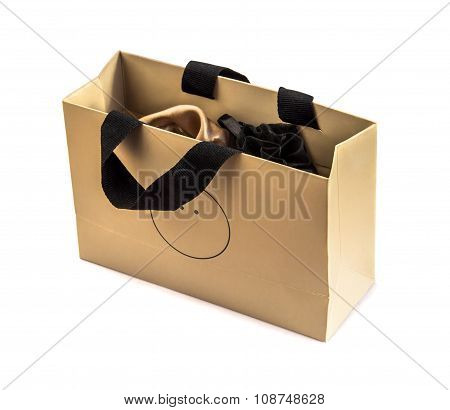 Gift Package Isolated Over White.