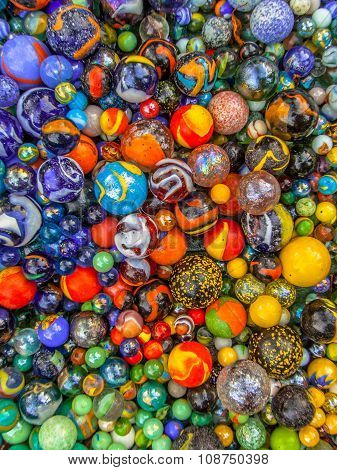 Background Of Marbles Color Diversity