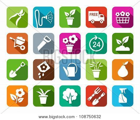 Gardening, Icon, Background C...