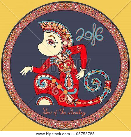 original design for new year celebration with decorative ape
