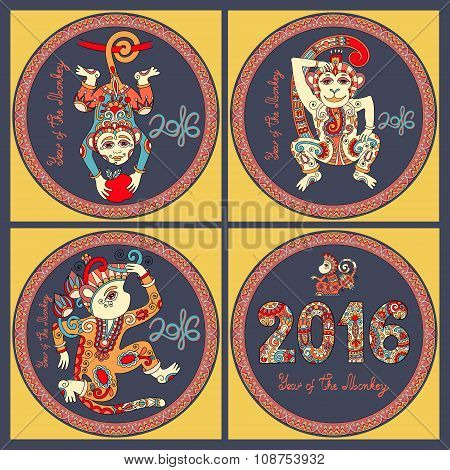 original design collection for new year celebration with decorat