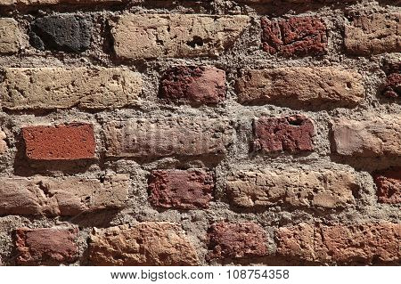 Old Vintage Dirty Brick Wall