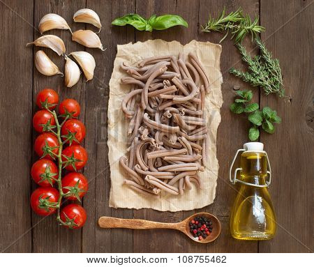 Whole Spelt Pasta, Vegetables,  Herbs And Olive Oil