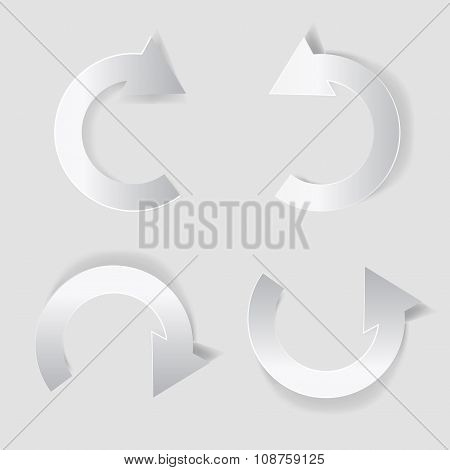 Circle White Paper Arrow Set