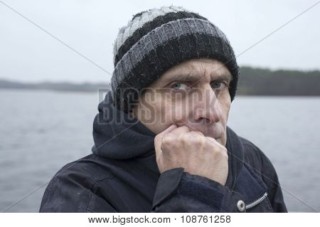 Man At Stormy Weather