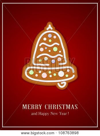 Gingerbread Christmas Bell