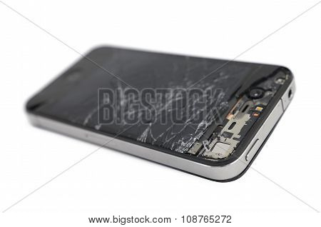 Broken Mobile Smartphone