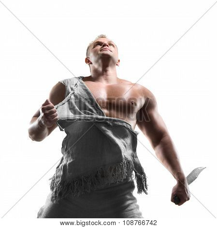 Man Standing With A Sword