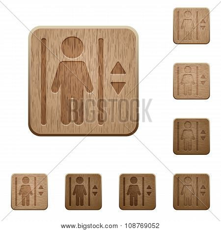 Elevator Wooden Buttons