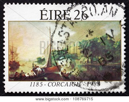 Postage Stamp Ireland 1985 Cork City Charter