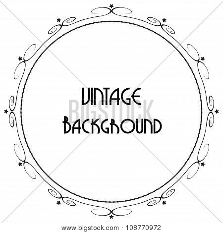 Vintage Decorative Background, Vector Antique Frame