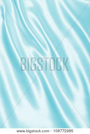 Smooth Elegant Blue Silk Or Satin As Background
