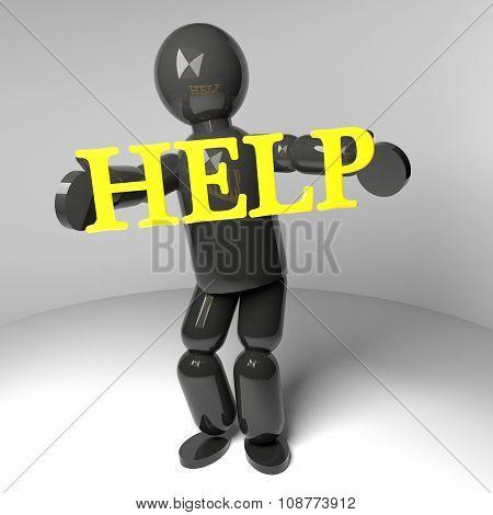 Help Puppet, 3D