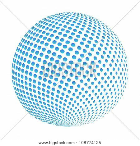 Business Corporate Abstract Globe Doted Blue Logo