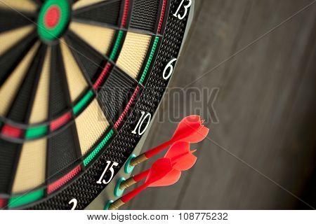 Close Up Of Darts Game