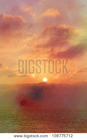 Beautiful Sunset And Sky
