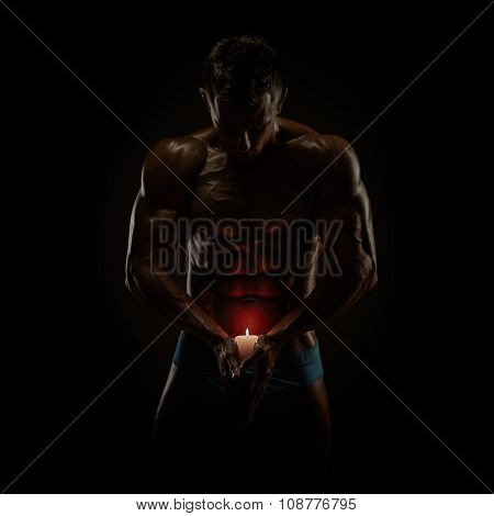 Muscles and candle