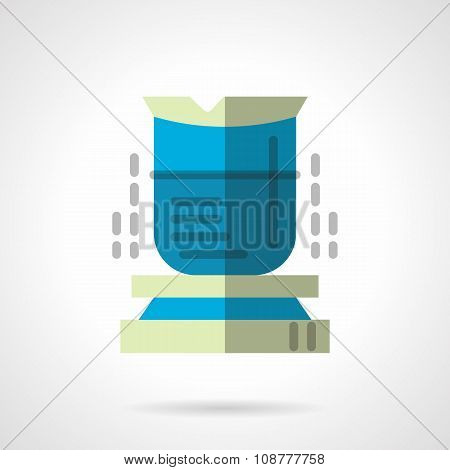 Chemical beaker flat vector vector icon