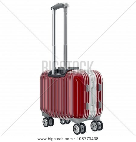 Metal luggage red