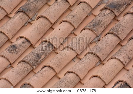 Tiles on the Building Roof Texture